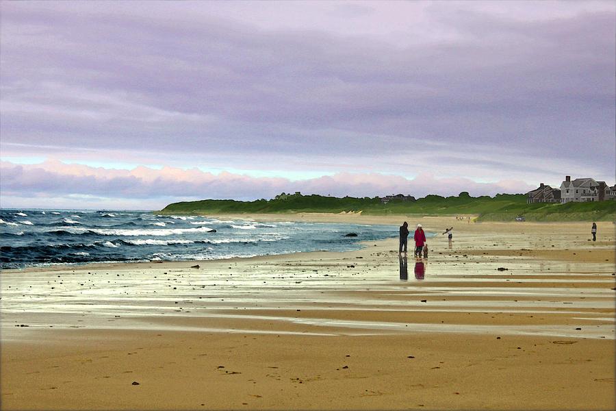Walking The Dog After A Storm Digital Art
