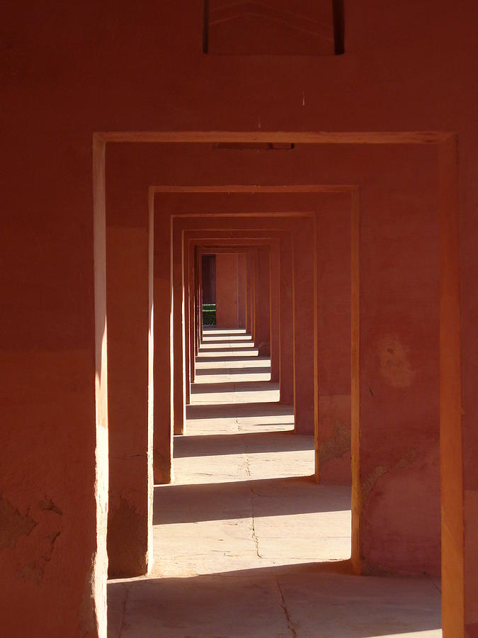 Hall Photograph - Walkway By The Taj by Bill Mock