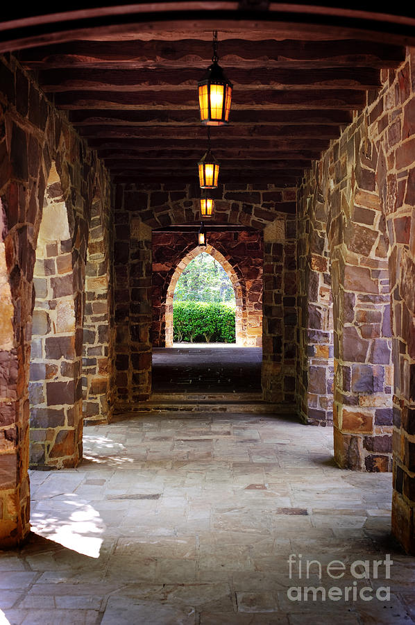 Walkway - Frost Memorial Chapel At Berry College Photograph  - Walkway - Frost Memorial Chapel At Berry College Fine Art Print