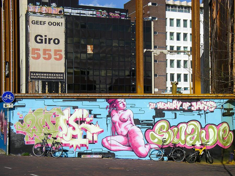 Wall and mural art construction site leiden netherlands by for Construction site wall mural