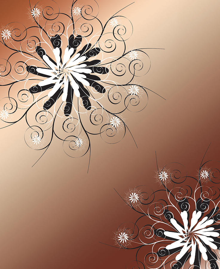 wall art abstract brown by my veil graphic design