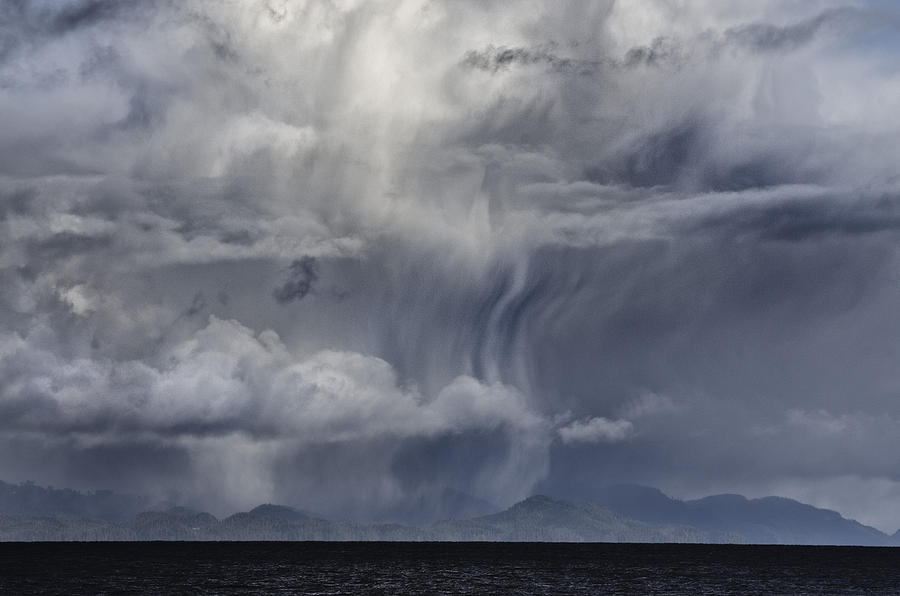 Cloud Digital Art - Wall Of Weather by Darryl Luscombe