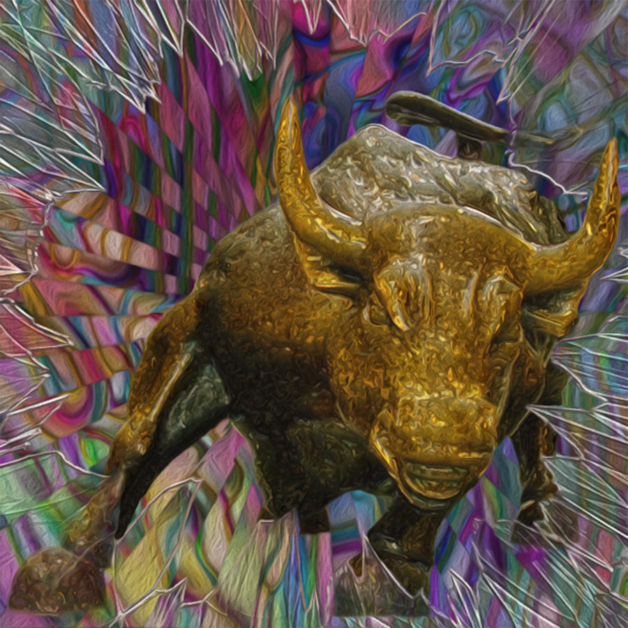 Wall Street Bull 3 Painting By Jack Zulli