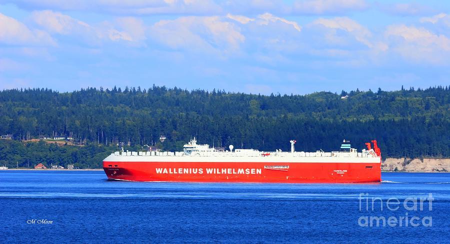 Ocean Photograph - Wallenius Wilhelmsen Logistics Tamerlane Ship by Tap On Photo