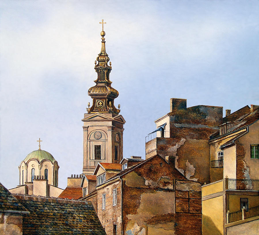Serbia Painting - Walls by Hrvoje Puhalo