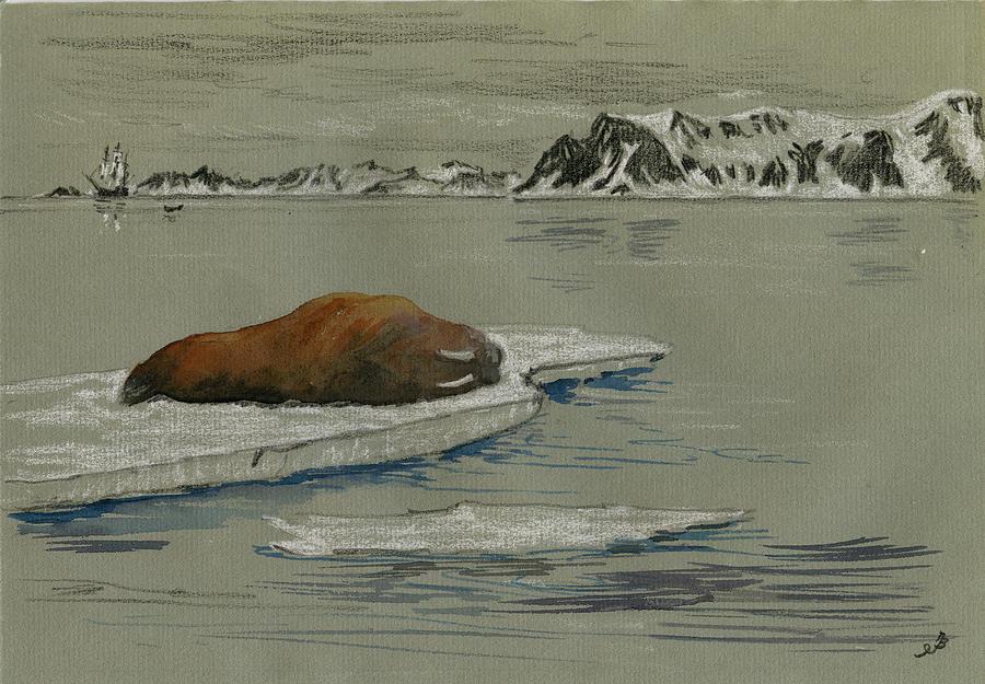 Artist Painted On An Iceberg