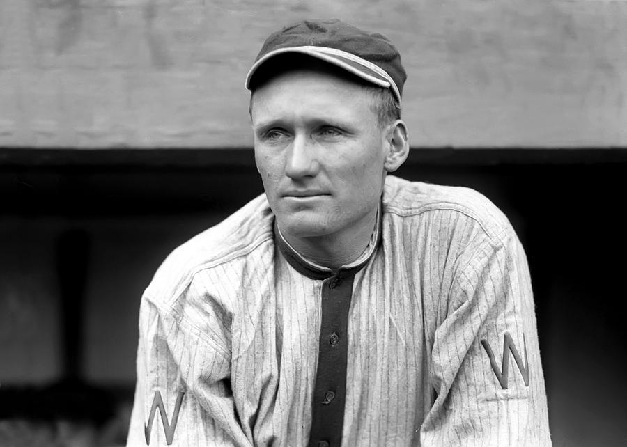 Walter Johnson Close Up Photograph