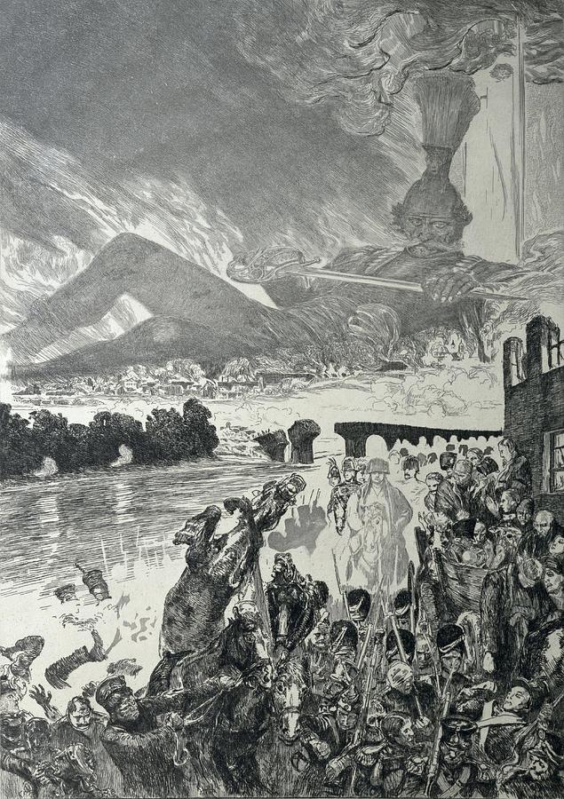 War 1910 Drawing