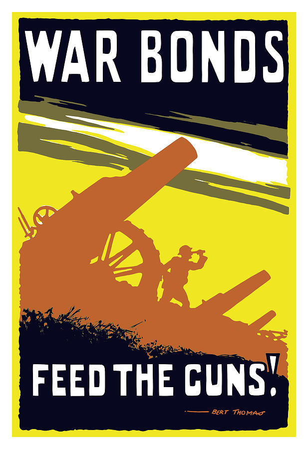 War Bonds Feed The Guns Painting