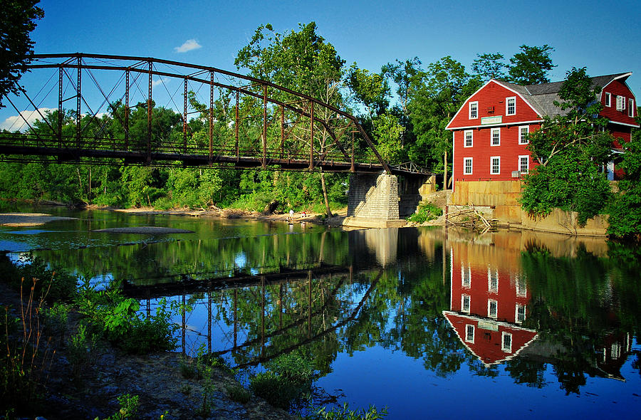 War Eagle Mill And Bridge Photograph