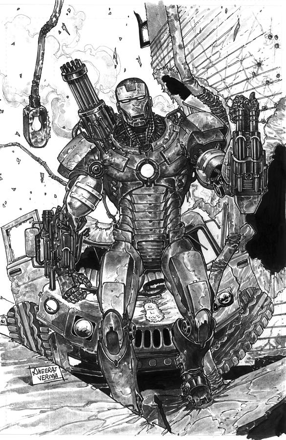 war machine drawing