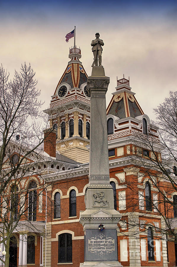 War Memorial Pontiac Il Photograph  - War Memorial Pontiac Il Fine Art Print