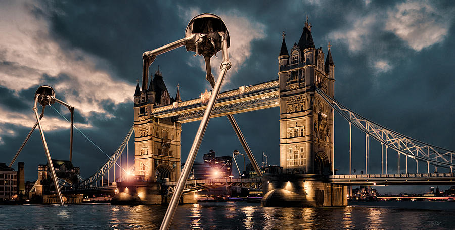 Tower Bridge Digital Art - War Of The Worlds London by Peter Chilelli