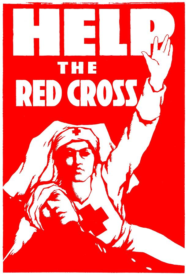 War Poster - Ww1 - Help The Red Cross Photograph