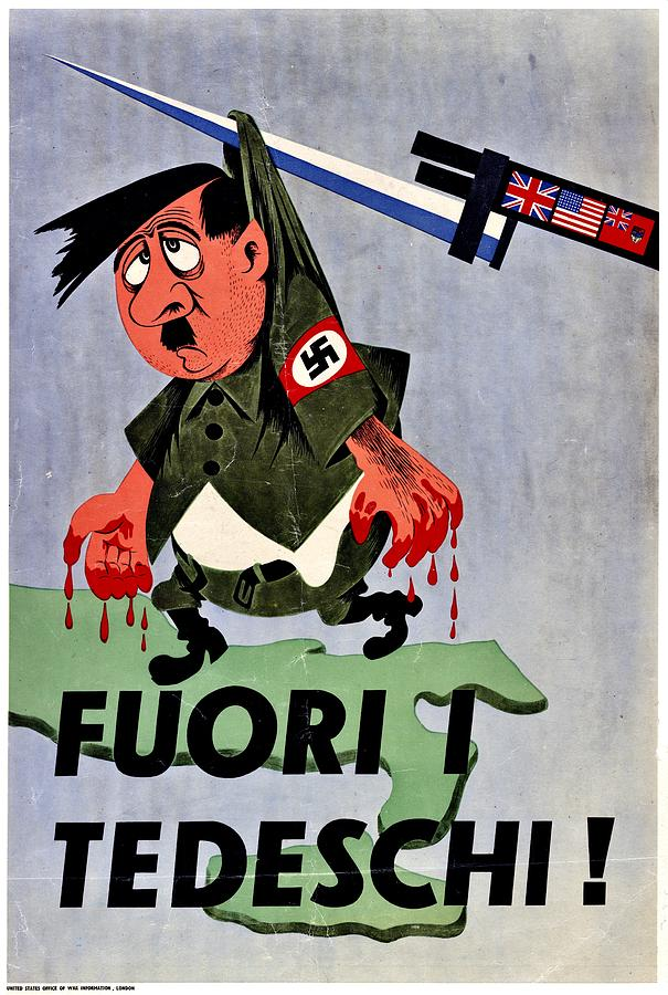 War Poster - Ww2 - Out With The Fuhrer Photograph  - War Poster - Ww2 - Out With The Fuhrer Fine Art Print