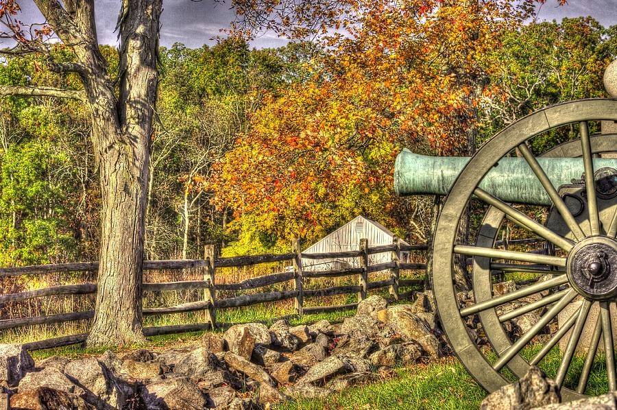 War Thunder - 3rd Massachusetts Light Artillery Battery C - J. Weikert Farm Autumn Gettysburg Photograph  - War Thunder - 3rd Massachusetts Light Artillery Battery C - J. Weikert Farm Autumn Gettysburg Fine Art Print