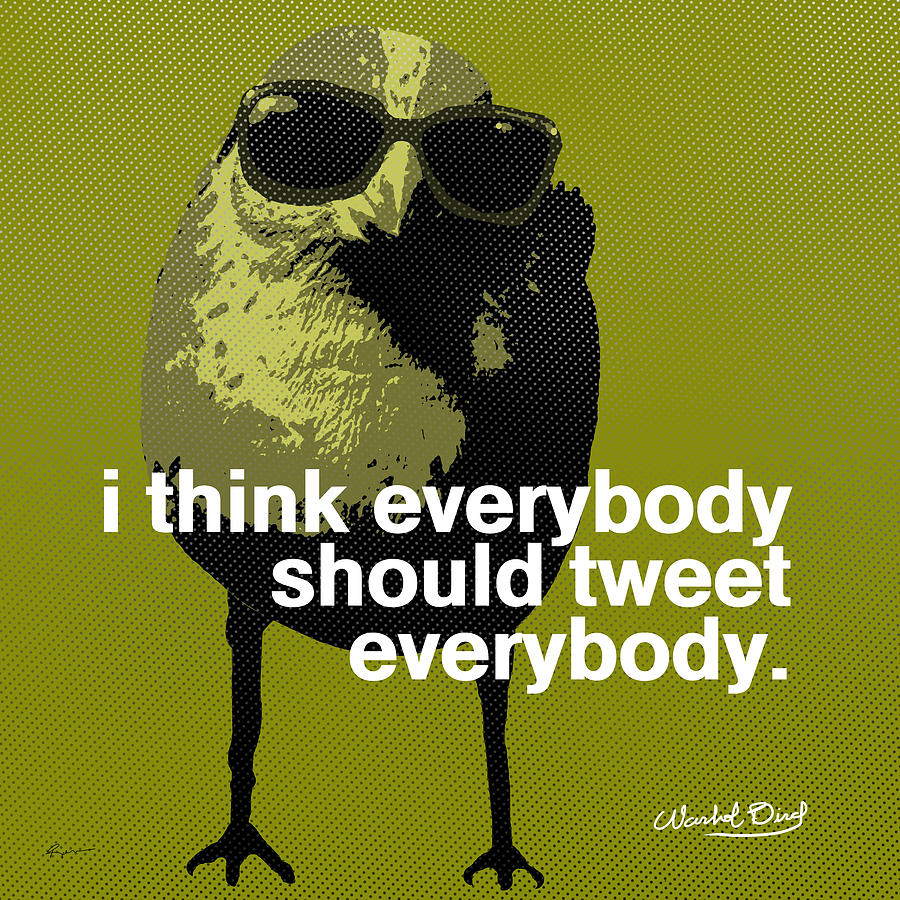 Warhol Tweeting Bird Digital Art