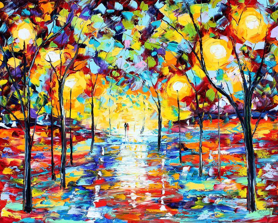 Warm Glow Of Night Painting By Karen Tarlton