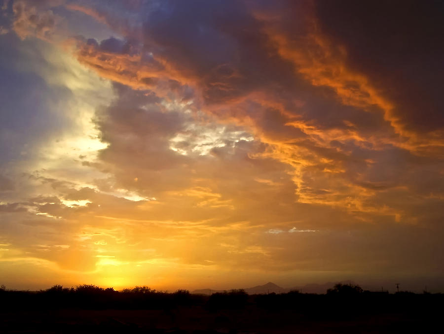 Warm Stormy Sunset Photograph  - Warm Stormy Sunset Fine Art Print