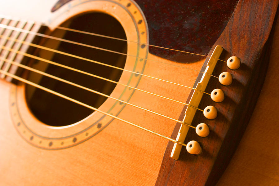 Guitar Photograph - Warm Tones by Barbara  White
