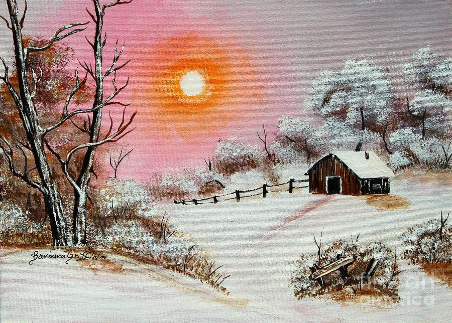 Warm Winter Day After Bob Ross Painting  - Warm Winter Day After Bob Ross Fine Art Print