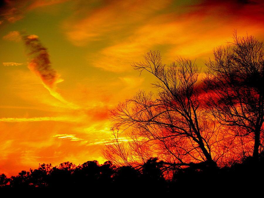 Sunset Photograph - Warm Winter Sunset  by Walter  Holland