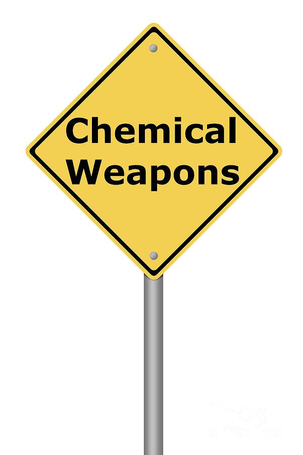 Warning Sign Chemical Weapons Digital Art by Henrik Lehnerer
