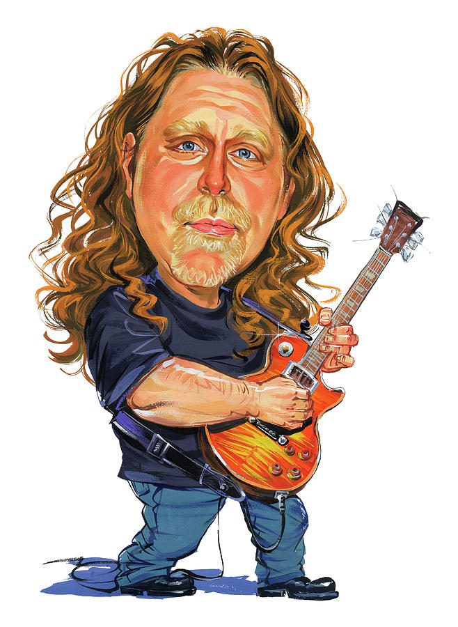 Warren Haynes Painting  - Warren Haynes Fine Art Print