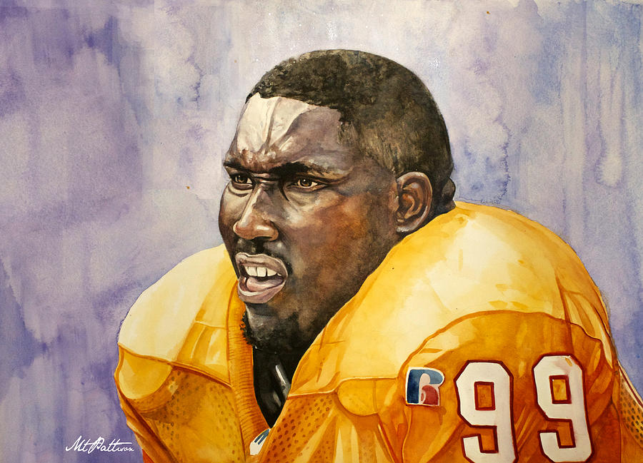 Warren Sapp Tamba Bay Buccaneers  Painting  - Warren Sapp Tamba Bay Buccaneers  Fine Art Print