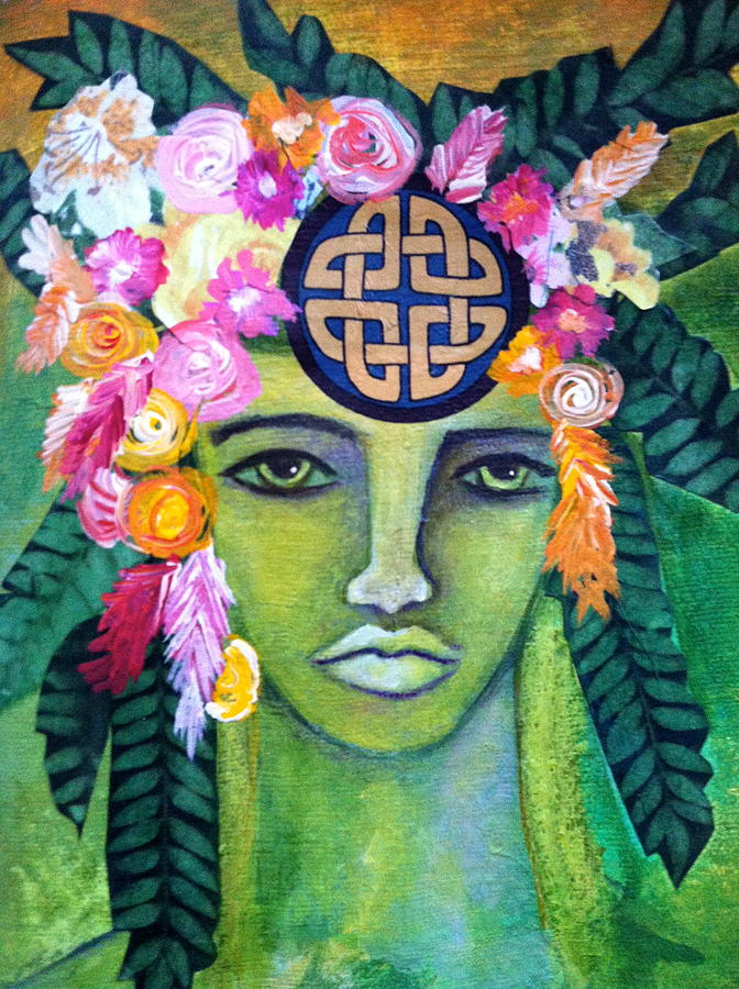 Warrior Goddess Painting  - Warrior Goddess Fine Art Print