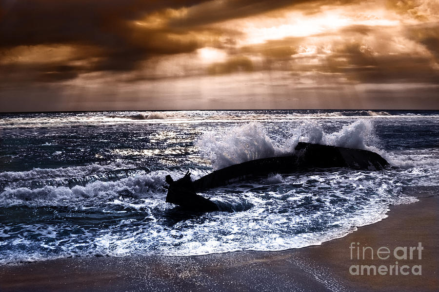 Washed Out To Sea - Outer Banks Photograph