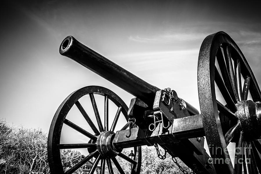 Washington Artillery Park Cannon In New Orleans Photograph  - Washington Artillery Park Cannon In New Orleans Fine Art Print