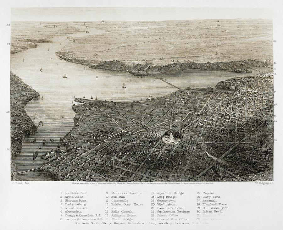 1862 Photograph - Washington, D.c., 1862 by Granger