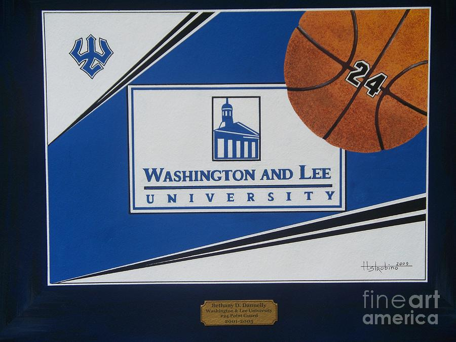 Washington Lee Univ. Basketball Painting