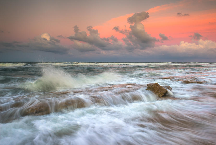 Washington Oaks State Park St. Augustine Fl - The Pastel Sea Photograph  - Washington Oaks State Park St. Augustine Fl - The Pastel Sea Fine Art Print