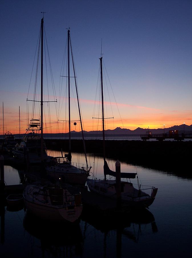 Washington State Photograph - Washington Sunset by Michael J Bauer