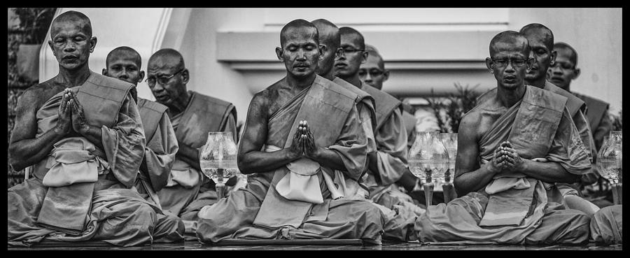 Wat Dhamma Monks Prayers Photograph