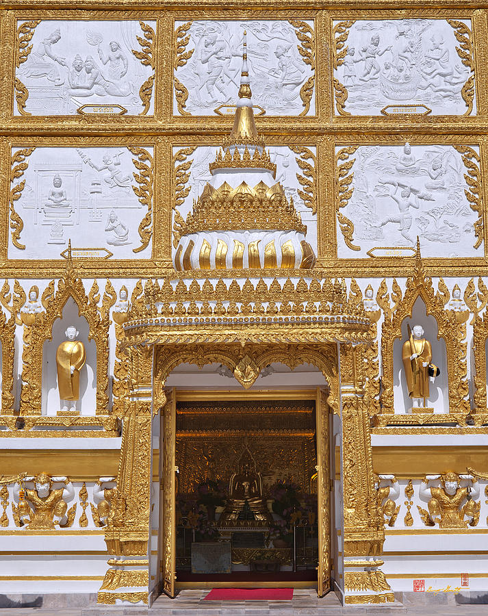 Wat Nong Bua Door Of Main Stupa Dthu448 Photograph  - Wat Nong Bua Door Of Main Stupa Dthu448 Fine Art Print