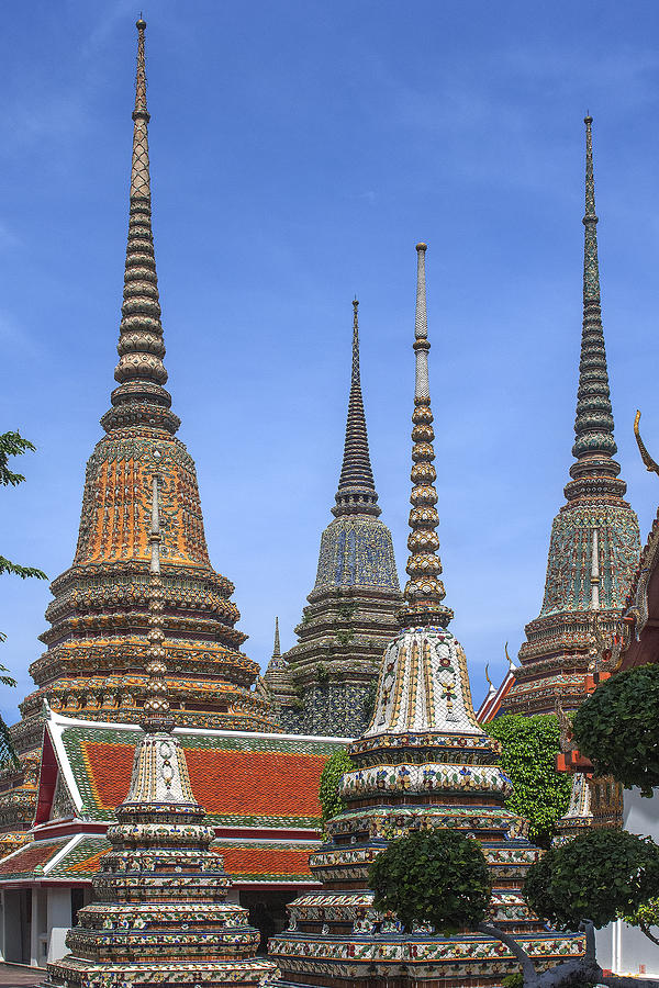 Wat Phra Chetuphon Great Chedi Dthb074 Photograph by Gerry ...