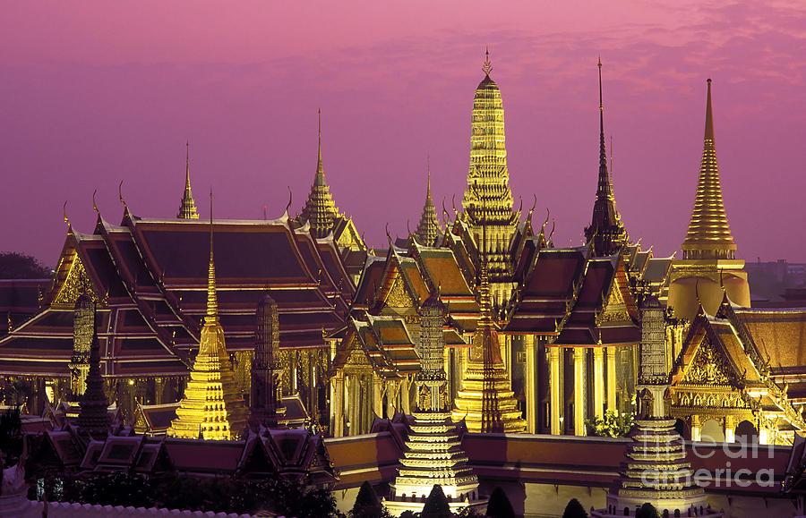 Wat Phra Kaew Bangkok Photograph by Kevin Miller
