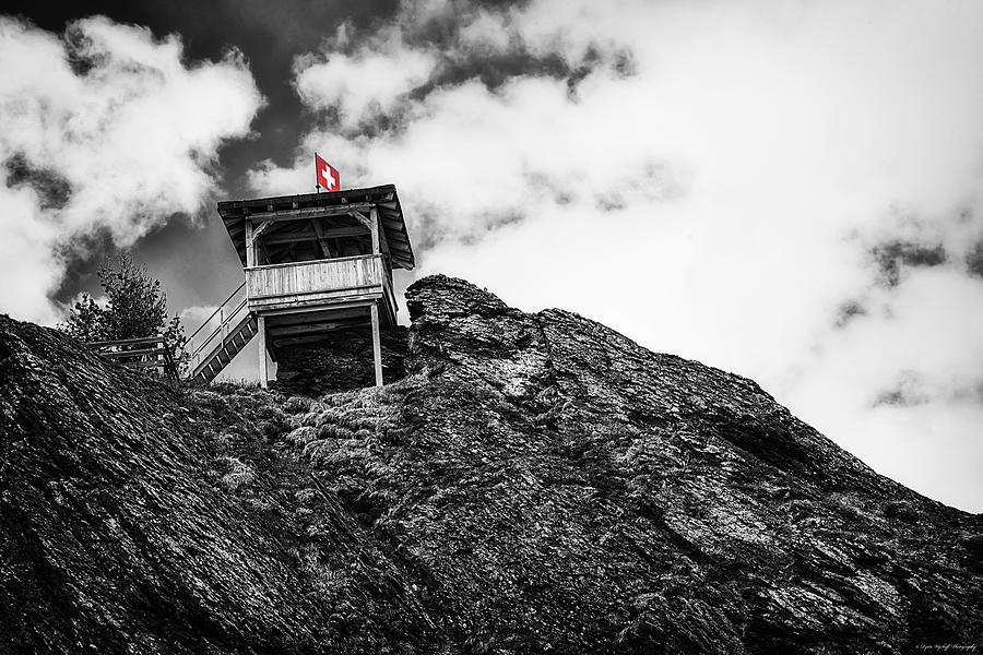 Swiss Photograph - Watch Tower by Ryan Wyckoff