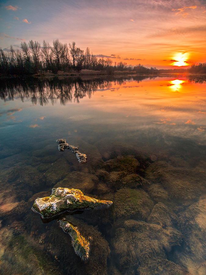 Watching Sunset Photograph
