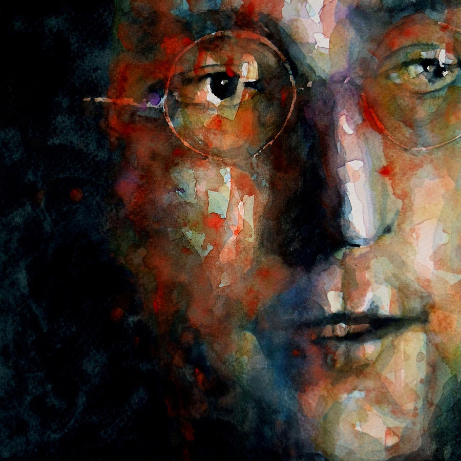 John Lennon  Painting - Watching The Wheels by Paul Lovering