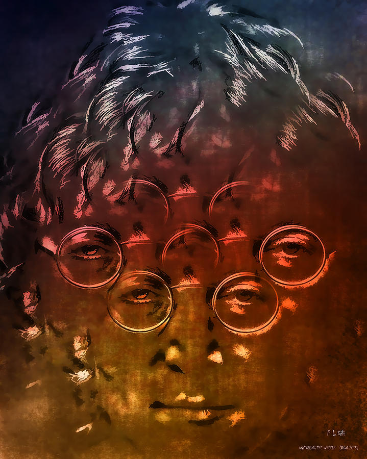 Beatles Digital Art - Watching The Wheels by Pedro L Gili