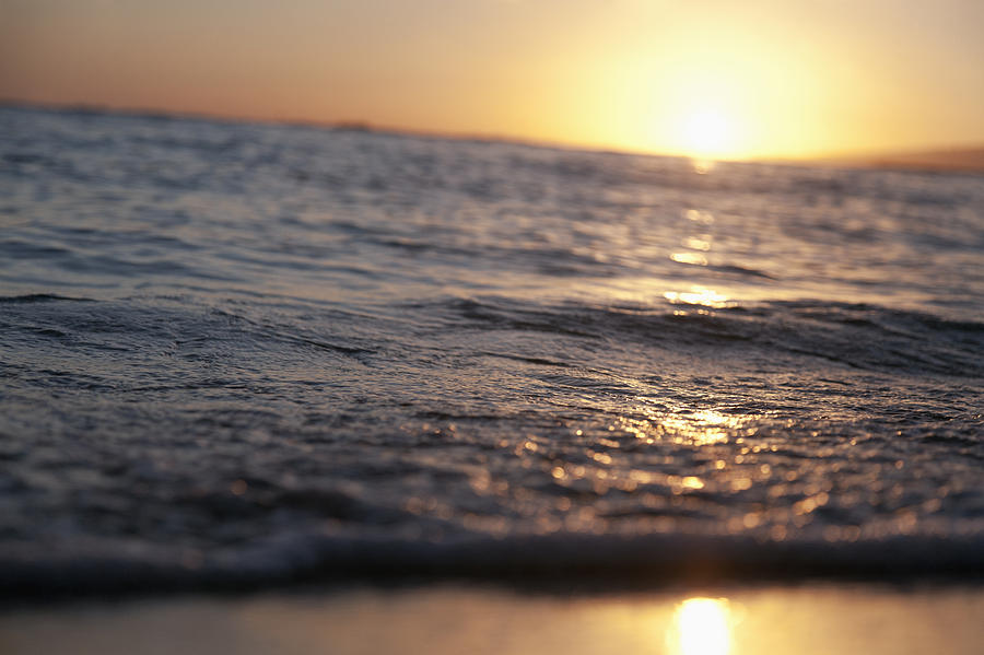 Water At Sunset Photograph