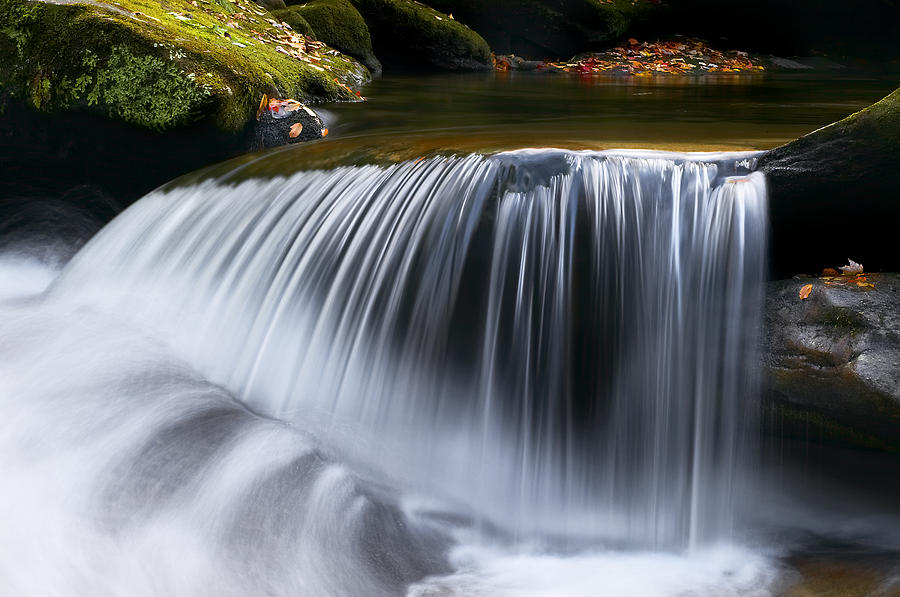 Water Falling Great Smoky Mountains Photograph