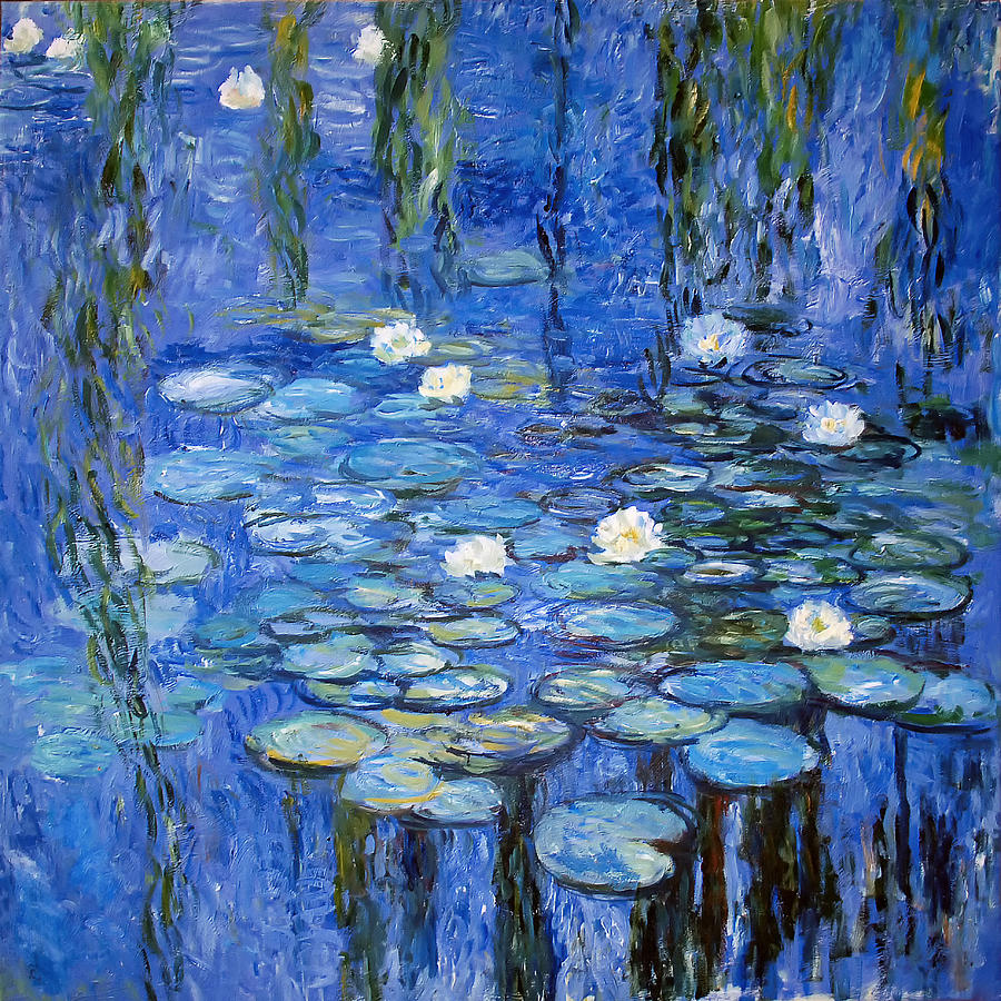Water lilies a la monet photograph for Monet paintings images