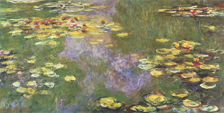 Water-lily Pond Giverny Painting by Claude Monet
