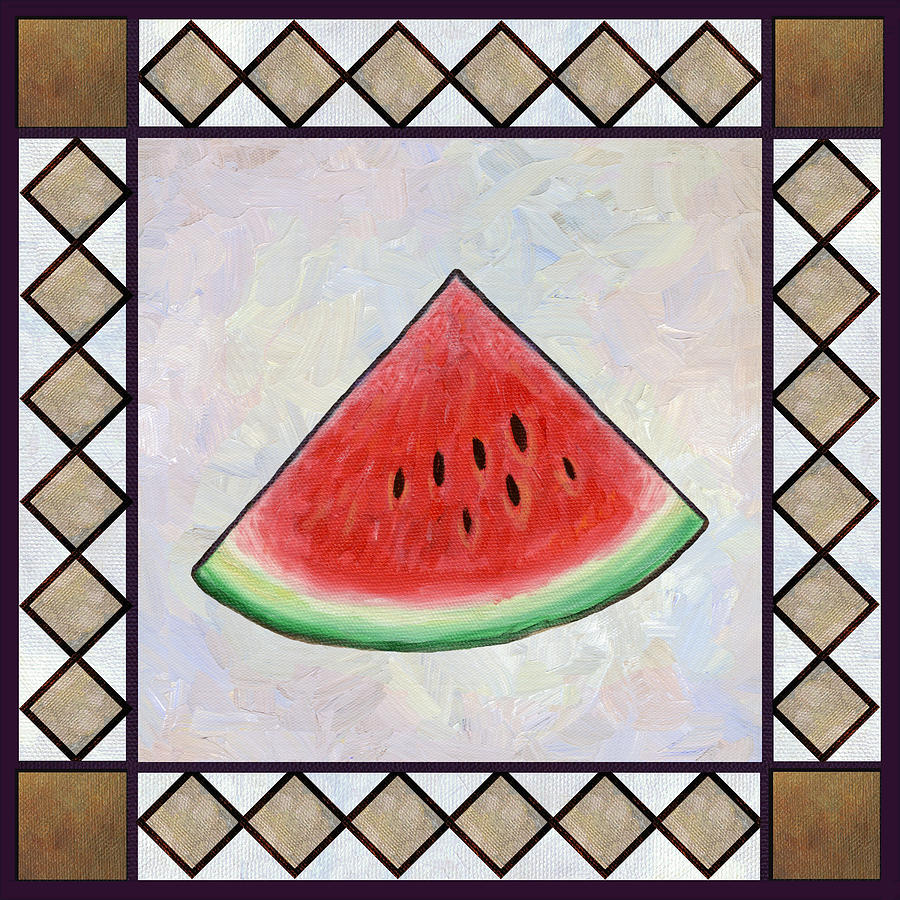 Water Melon Slice Painting