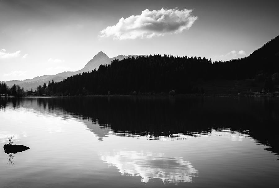 Water Reflection Black And White Photograph by Matthias Hauser